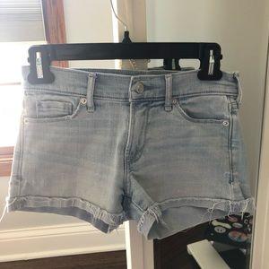 Abercrombie light wash jean shorts